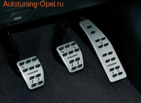 Накладки на педали Opel Astra J алюминевые (для РКПП) с надписью Irmscher