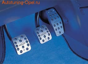 Накладки на педали Opel Vectra C алюминевые (для РКПП) с надписью Irmscher
