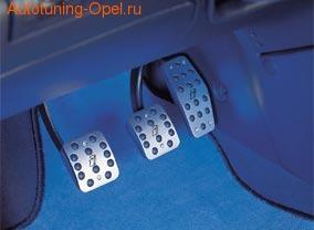 Накладки на педали Opel Signum, Opel Vectra C алюминевые (для РКПП) с логотипом Opel i Line