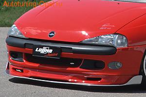 Накладка на бампер передний Opel Tigra в стиле GT/F1 Тип ``A``