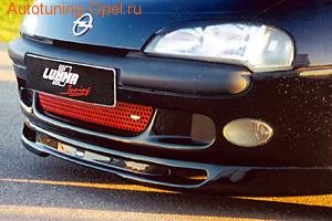 Накладка на бампер передний Opel Tigra в стиле GT/F1 Тип ``B``