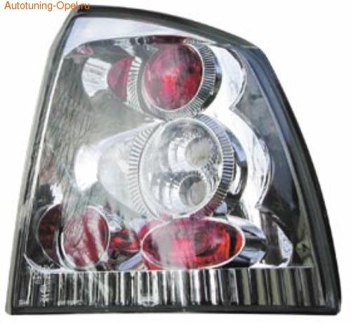 Фонари задние Opel Astra G хромированные
