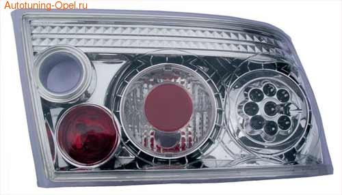 Фонари задние Opel Calibra хромированные прозрачные LED (светодиодные)
