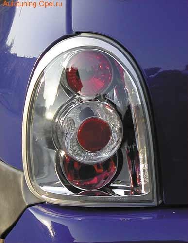 Фонари задние Opel Corsa B хромированные