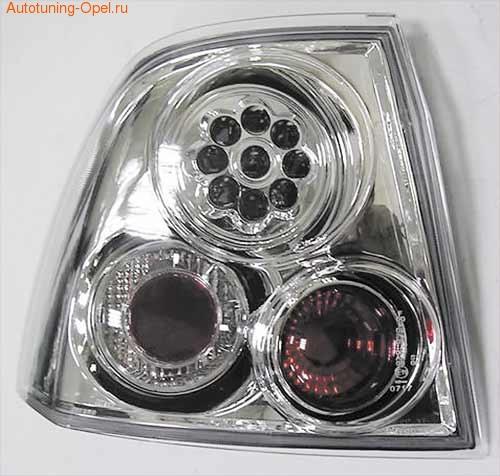 Фонари задние Opel Vectra B хромированные LED (светодиодные)