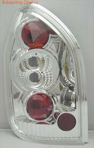 Фонари задние Opel Zafira A хромированные