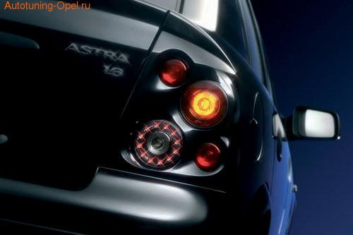 Фонари задние Opel Astra G черные