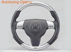 Руль для Opel Vectra C в стиле Alu-Look с кожаными вставками