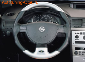 Руль для Opel Corsa C, Opel Meriva, Opel Tigra в стиле Mattchrom-Look с кожей