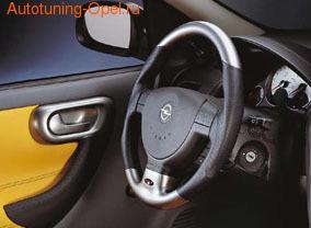 Руль для Opel Corsa C в стиле Alu-Look с кожаными вставками