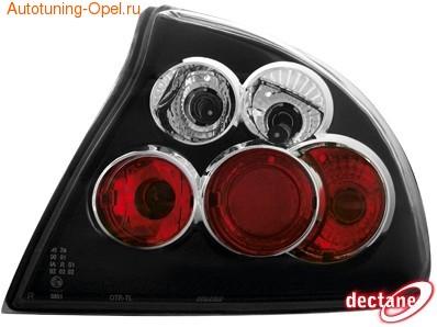 Фонари задние Opel Tigra черные