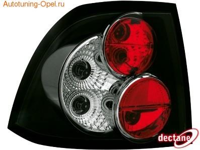Фонари задние Opel Vectra B черные