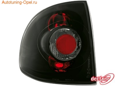 Фонари задние Opel Astra F черные