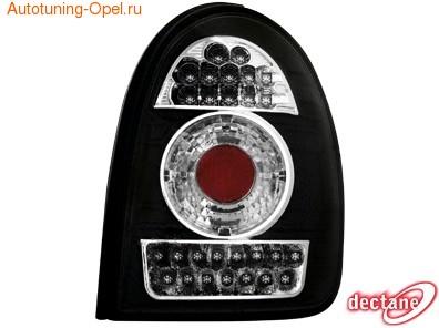 Фонари задние Opel Corsa B черные LED (светодиодные)