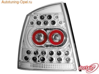 Фонари задние Opel Astra G прозрачные LED (светодиодные)