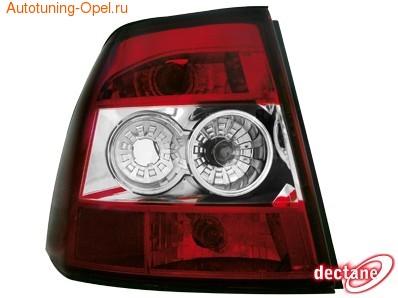 Фонари задние Opel Vectra B красные прозрачные