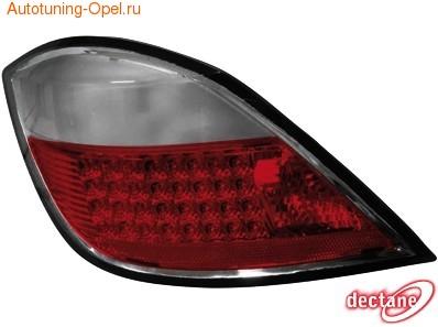 Фонари задние Opel Astra H Хэтчбек красные прозрачные LED (светодиодные)