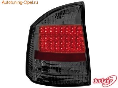 Фонари задние Opel Vectra С красные прозрачные