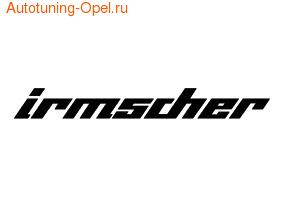 Наклейка Irmscher черного цвета для автомобилей Opel