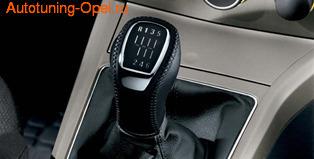 Ручка КПП Opel Astra H в стиле OPC Line с манжетой КПП из черной кожи