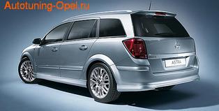 Пороги Opel Astra H Универсал в стиле OPC Line