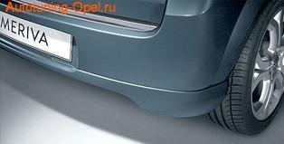 Накладка на бампер задний Opel Meriva A в стиле OPC Line