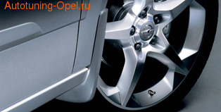 Брызговики передние Opel Astra H