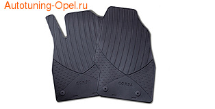 Коврики в салон Opel Corsa D резиновые передние