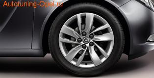 Диски литые R18 легкосплавные серебристые дизайн 5 двойных лучей для Opel Insignia
