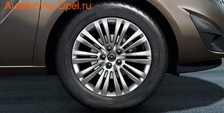 Диски литые R16 легкосплавные дизайн 10 двойных лучей с покрытием Silver для Opel Astra H, Opel Meriva B, Opel Zafira B