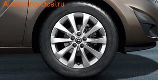 Диски литые R16 легкосплавные дизайн 5 V-образных лучей для Opel Meriva B
