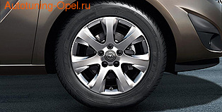 Диски литые R16 легкосплавные дизайн 7 лучей для Opel Meriva B