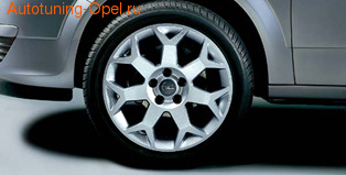 Диски литые R17 легкосплавные дизайн 7 Y-образных лучей с покрытием Silver для Opel Astra H, Opel Zafira B