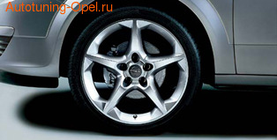 Диски литые R18 легкосплавные дизайн 5 лучей с покрытием Silver для Opel Astra H, Opel Zafira B
