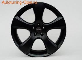 Диски литые R18 легкосплавные черные дизайн Evostar-Design для Opel Zafira Tourer