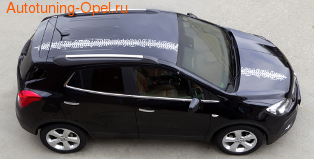 Акцентные полосы экстерьера Opel Mokka черного цвета для автомобилей без панорамной крыши