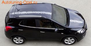 Акцентные полосы экстерьера Opel Mokka белого цвета для автомобилей без панорамной крыши