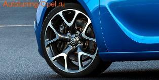 Диски кованые R20 легкосплавные дизайн OPC Line 5 Y-образных лучей для Opel Astra J