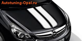 Акцентные полосы экстерьера Opel Corsa D 5-дверная Casablanca White