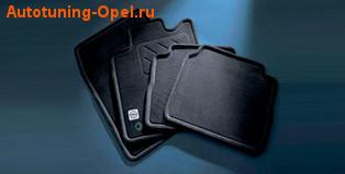 Коврики в салон Opel Zafira B велюровые черные 3D-эффект