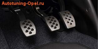 Накладки на педали Opel Corsa E в стиле OPC Line из нержавеющей стали (для МКПП)