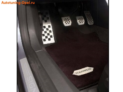 Коврики в салон Opel Zafira Tourer со стальным логотипом Steinmetz