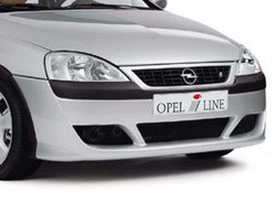 Бампер передний Opel Corsa C для автомобилей без противотуманных фар