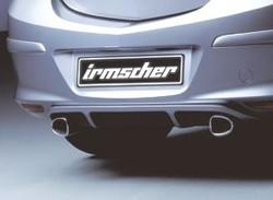 Диффузор в бампер задний Opel Astra H GTC для глушителя слева