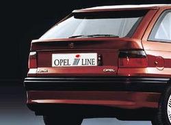 Накладка на бампер задний Opel Astra F