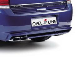 Накладка на бампер задний Opel Vectra C Хэтчбек с вырезом слева