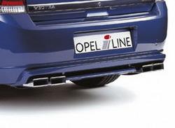 Накладка на бампер задний Opel Vectra C Хэтчбек с вырезом слева и справа