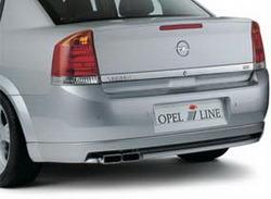 Накладка на бампер задний Opel Vectra C Седан с вырезом слева