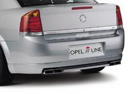 Накладка на бампер задний Opel Vectra C Седан с вырезом слева и справа