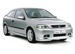 Накладка на задний бампер Opel Astra G удлиняющая